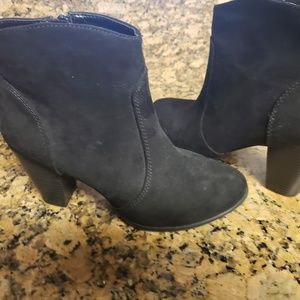 Express Shoes - EXPRESS Black Bootie Heels Size 8 Never Worn!